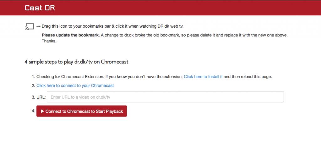 DR app til Chromecast